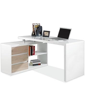 Eckschreibtisch weiß  Eckschreibtisch Schreibtisch Computertisch Arbeitstisch MIKOSCH ...