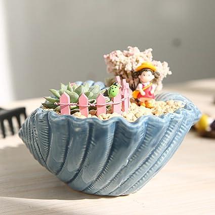 Amazon.com: Maceta de cerámica hecha a mano para decoración ...