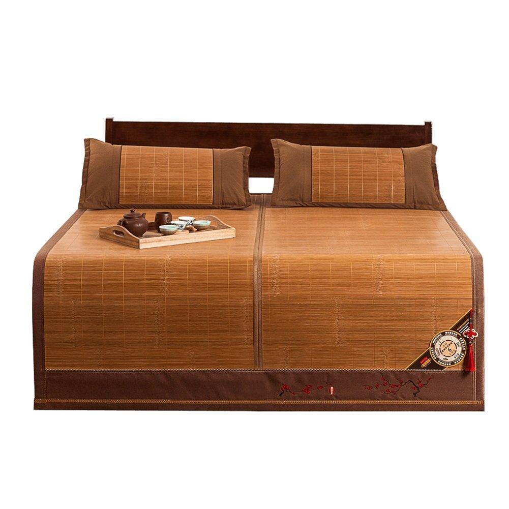 WENZHE Bambus Matratzen Sommer-Schlafmatten Strohmatte Teppiche Falten Doppelseitig Verfügbar Hautfreundlich Gemütlich, 1,5/1,8 M