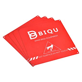 Biqu - Juego de 4 láminas de cristal con adhesivo 3D para ...