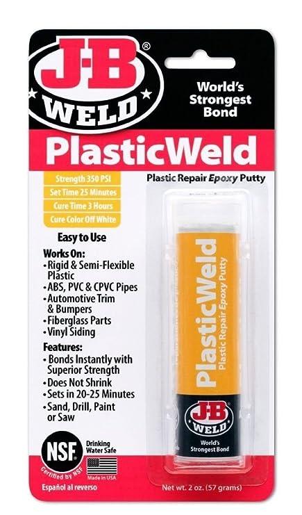 Plastic Weld Quick Setting Epoxy Adhesive Symbol Of The Brand Jb J-b Weld 50132 Uk 2nd Class Post Fast Color