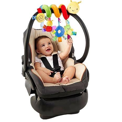YOUFAN Espiral actividades colgar juguetes del cochecito de bebé juguetes carro asiento cochecito juguete con campana