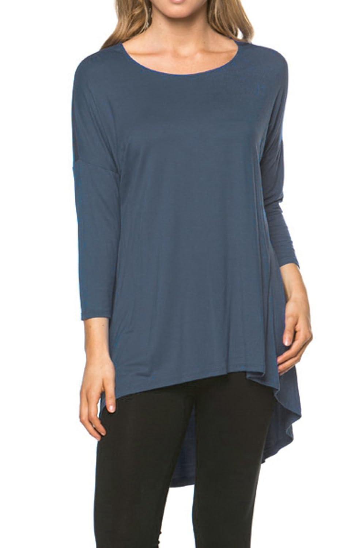 2LUV Women's Criss Cross Back Long Sleeve Sweater Top