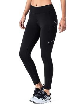 bfd34a938 NAVISKIN Pantalones de Forro Polar Mujer Yoga Pilates Mallas Deportivas  Leggings Largos Bolsillos Elástico Transpirable Training Running Fitness  Negro XL: ...