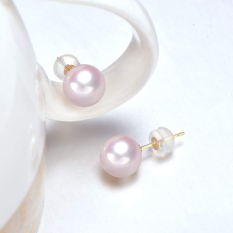 925 Sterling Silver Stud Earrings 6-7mm White Japanese Pearl Earrings