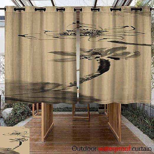 VIVIDX - Cortinas de Exterior e Interior para Patio, multifuncionales, Impermeables, con lengüeta en la Parte Superior para Porche Delantero de Pergola, 2 Paneles: Amazon.es: Jardín