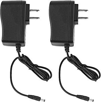 2pack UL Listed 12V DC 1Amp 1A Power Supply Switch Adapter Transformer Charger