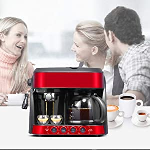 XinC Semi-Automatic American and Italian Office Coffee Machines with Advanced Cappuccino Coffee System, Built-in Steamer and Foamer, Can Extract The Aroma of Coffee