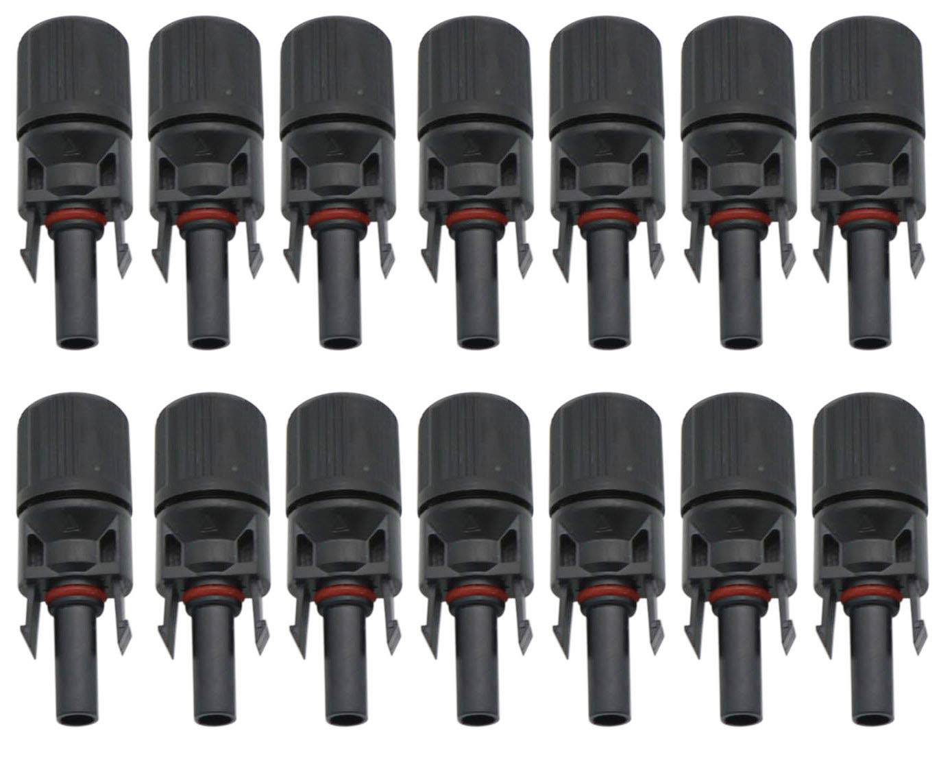 STYDDI 12 Pair MC4 Solar Panel Cable Connectors Male//Female Safety Seal Ring Waterproof IP67 Solar Panel Cable Connector with Assembly Tools