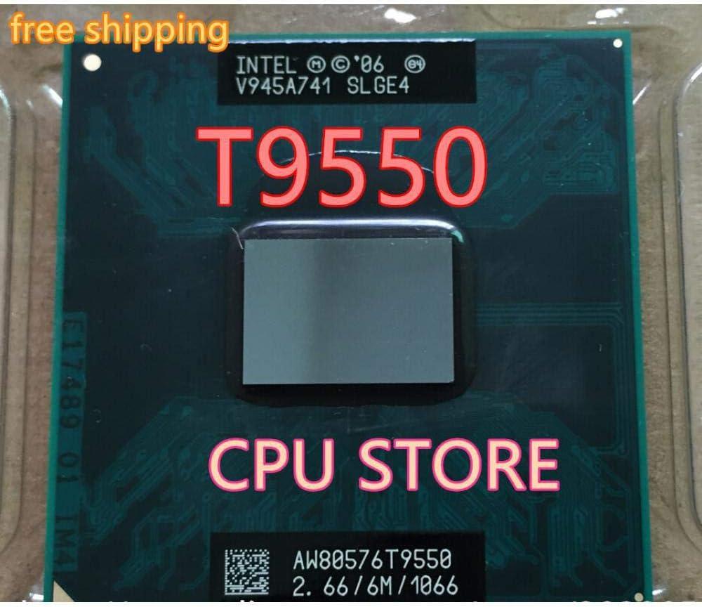 Lntel CPU Laptop Core 2 Duo T9550 CPU 6M Cache//2.66GHz//1066//Dual-Core Socket 479GM45//PM45 Can Work