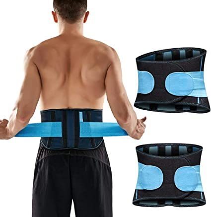 Men Women Back Support Brace Lower Waist Pain Relief Lumber work Adjustable Belt