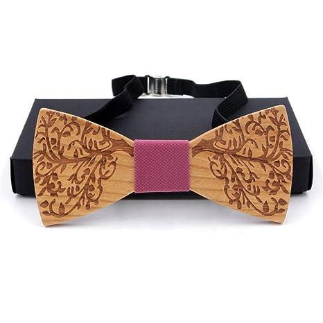 La corbata de madera de la boda se puede ajustar Corbatas de lazo ...