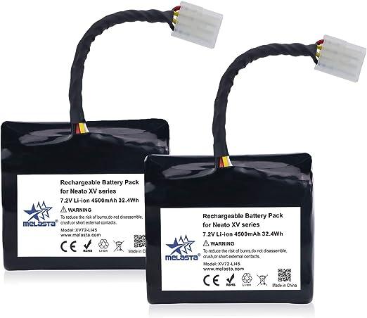 melasta 2pcs Batería de Iones de Litio de 7.2v 4500mAh de Larga ...