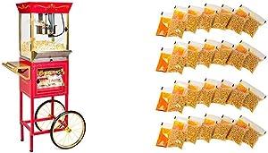 Nostalgia CCP610 Vintage Professional Popcorn & Concession Cart with 24 4-Ounce Premium Popcorn, Oil & SeasoningsPacks