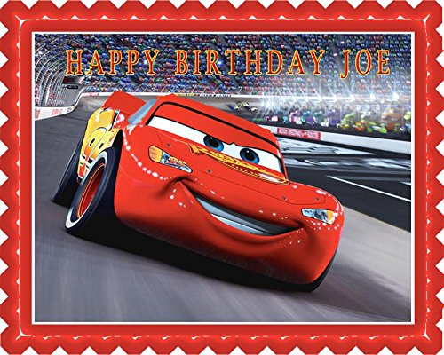 Disney Pixar Cars Lightning McQueen (Nr2) - Edible Cake Topper - 7.5