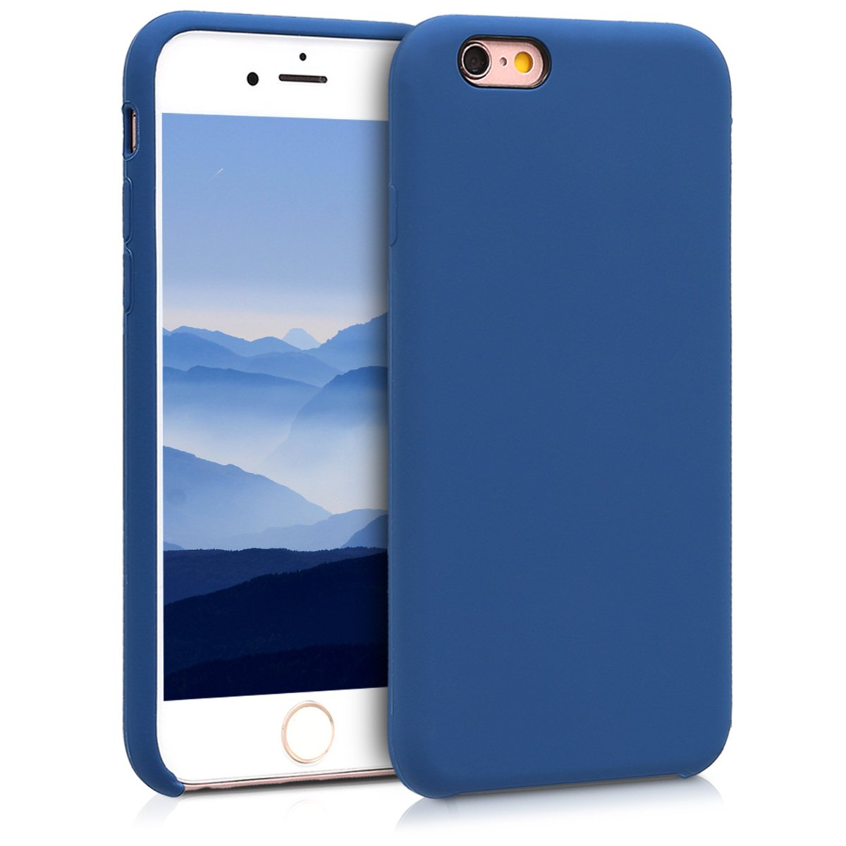 kwmobile TPU Silicone Case for Apple iPhone 6 / 6S - Soft Flexible Rubber Protective Cover - Navy Blue