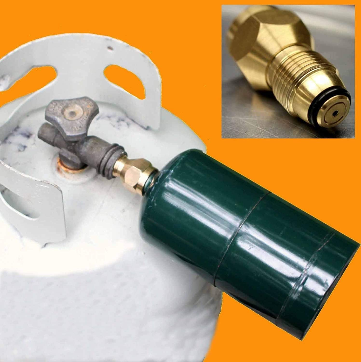 Propane Tank Refill Adapter Gas Cylinder Canister Filler Coupler Spare Part 1pc