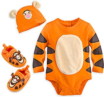 f08509c12 Amazon.com : Disney Store Tigger Bodysuit Costume for Baby with Shoes and  Cap, 3-6 months : Baby