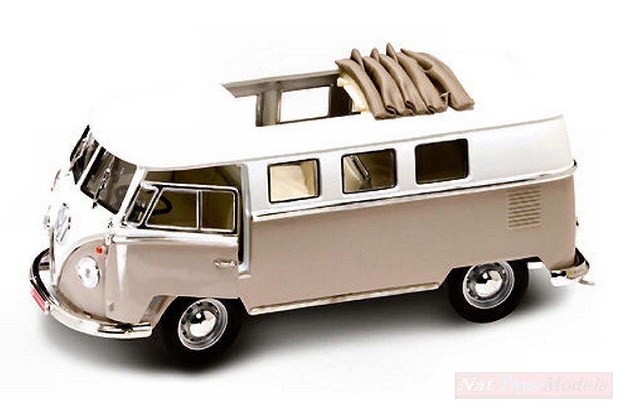 NEW Yat Ming LDC92327DS VW MICROBUS Soft Top 1962 Desert Sand 1:18 Die Cast Model