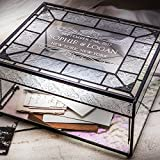J Devlin Box 840 CBE 843 Personalized Wedding Card Box Engraved Glass Wedding Card Holder Reception Decor Keepsake Display