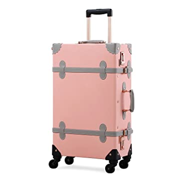 a3a35a88d Amazon.com | Unitravel Vintage Suitcase Hard Shell Rolling Carry On Luggage  Trolley Retro Trunk | Suitcases