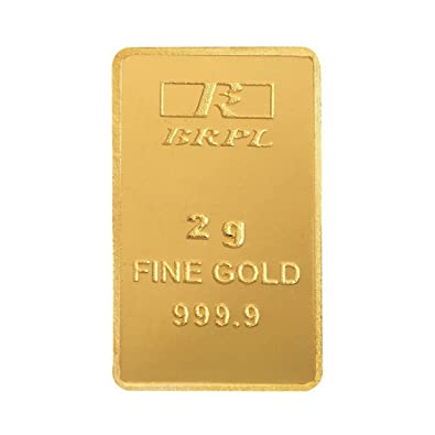 Bangalore Refinery 2 gm, 24k (999 9) Yellow Gold Bar
