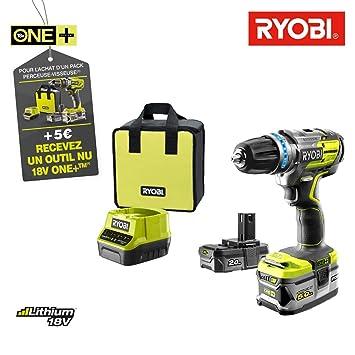 Ryobi 18 V Akku Pack OnePlus 5,0 Ah und 1 Schnell-Ladegerät 2.0 Ah
