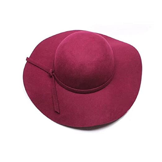 Bestpriceam® Women Lady Wool Wide Brim Felt Bowler Hat Floppy ... a95d2c3fd88c