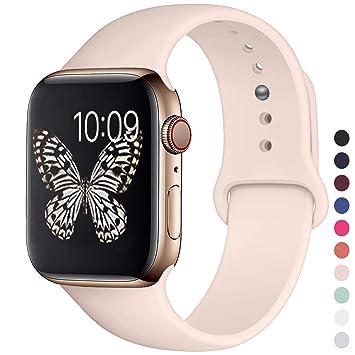 iBander Sport Correa Compatible con Apple Watch 40m 38mm, Bandas de Repuesto de Silicona Suave para iWatch Serie 4, Serie 3, Serie 2, Serie 1 M/L