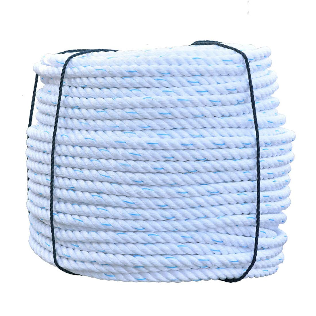 YF ZJ Moving straps Nylon Linen Truck Rope Twisted 3 Strand Line Synthetic Rope | Commercial Grade Industrial Braided Rope Dock Lines Heavy Load Uses