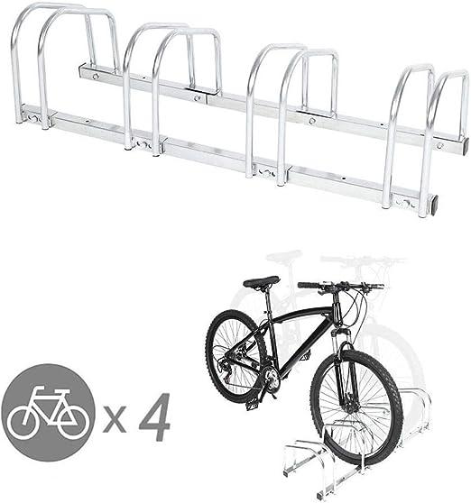 SOULONG Aparcamiento de Bicicletas en Suelo para 4 bicis Soporte ...