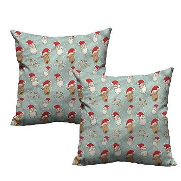 Amazon.com: Fundas de almohada con diseño de Papá Noel con ...