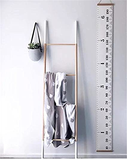 Fancyku Hanging Growth Chart Height Measurement Chart for Baby, Measures From Birth to Adult Room Decor