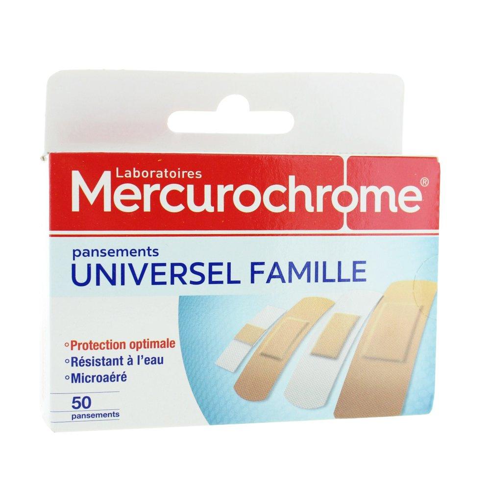 Mercurochrome Universel Famille 50 Pansements  Amazon.fr  Hygiène et Soins  du corps befc27cb4931