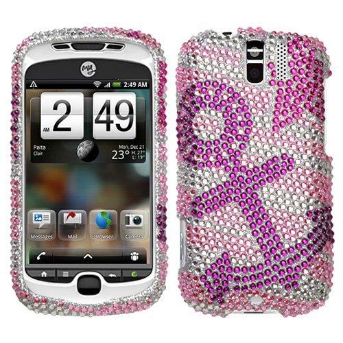 (Hard Diamante Protector Skin Cover (Faceplate/Snap On) Full Rhinestones Diamond Bling for HTC myTouch 3G Slide T-Mobile - Anchor Star)
