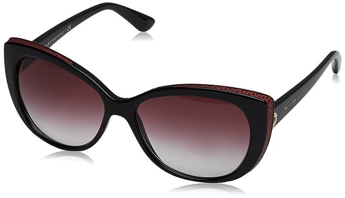 Bulgari BVLGARI Damen Sonnenbrille 0BV8157BQ 901/8H, Schwarz (Black/Violetgradient), 57