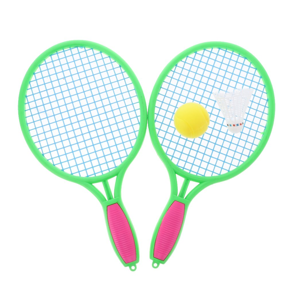 Dovewill Kids Dual Tennis Racket Ball Set Badminton Outdoor Beach Sports Toys Medium Size