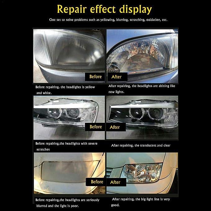 800ml Reparaturflüssigkeit Für Autoscheinwerfer Auto Scheinwerfer Reparatur Flüssigkeit Refurbished Reiniger Für Gelb Fuzzy Oxidiert Kratzer Auto