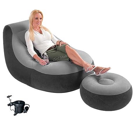 Amazon.com: Intex Ultra Lounge Silla hinchable W/Otomano de ...