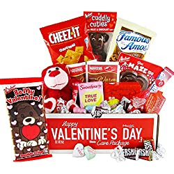 Valentine's Day Care Package (25 Count) - Chocolates, Candy, Hearts - College Variety Bundle - Gift Assortment
