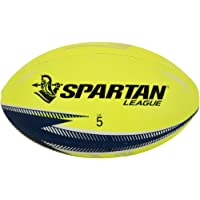 SPARTAN Classic Rugby League Training Ball, Yellow, Size 5