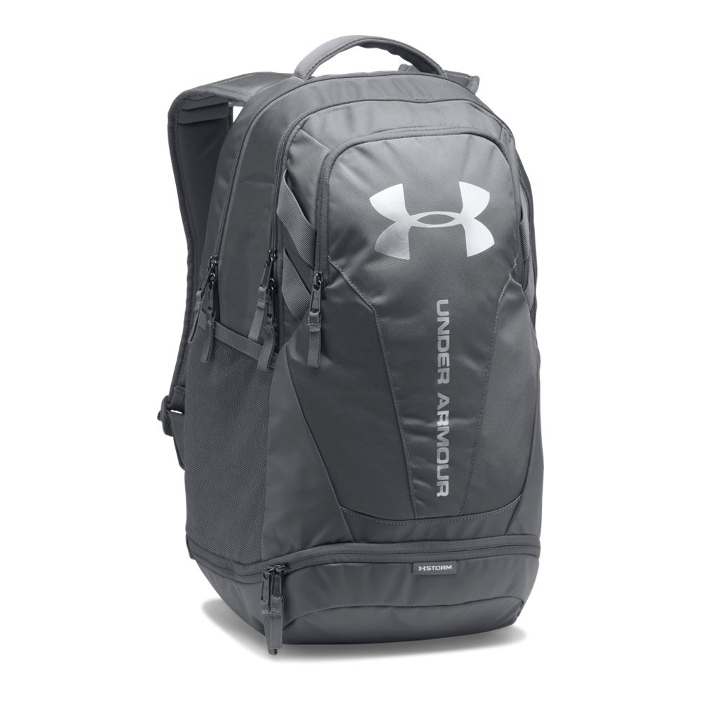 Under Armour Hustle 3.0 Backpack,Graphite (040)/Silver, One Size