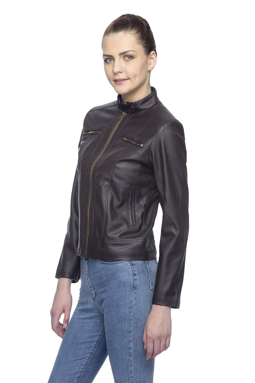 c9fb27a42 Lambency Women's PU Jacket