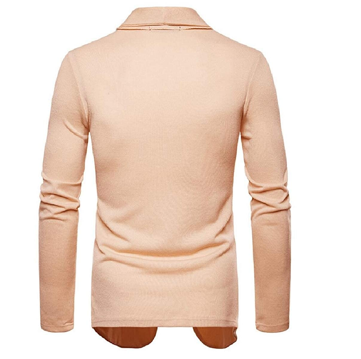 ZXFHZS Mens Solid Color Slim Fit Lightweight Shawl Collar Cardigan Sweaters