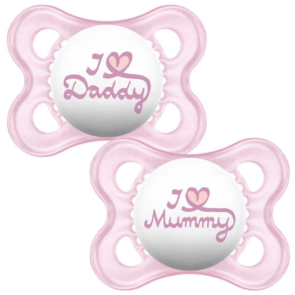 MAM Crystal Soother and Sterilisable Case Pink