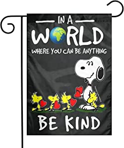 Criss Snoopy Be Kind Garden Flag Perfect Decor for Outdoor Yard Porch Patio Farmhouse Lawn, 12 X 18 Inch