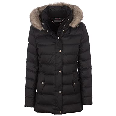 13cfb377 Tommy Hilfiger Tyra Down Jacket In Black: Amazon.co.uk: Clothing
