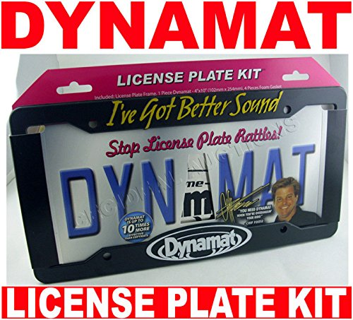 19100 DYNAMAT 100% Xtreme License Plate Kit New!