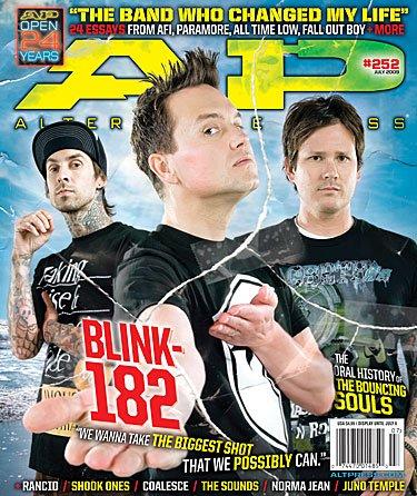 AP Alternative Press Magazine Issue 252 July 2009 - Blink 182