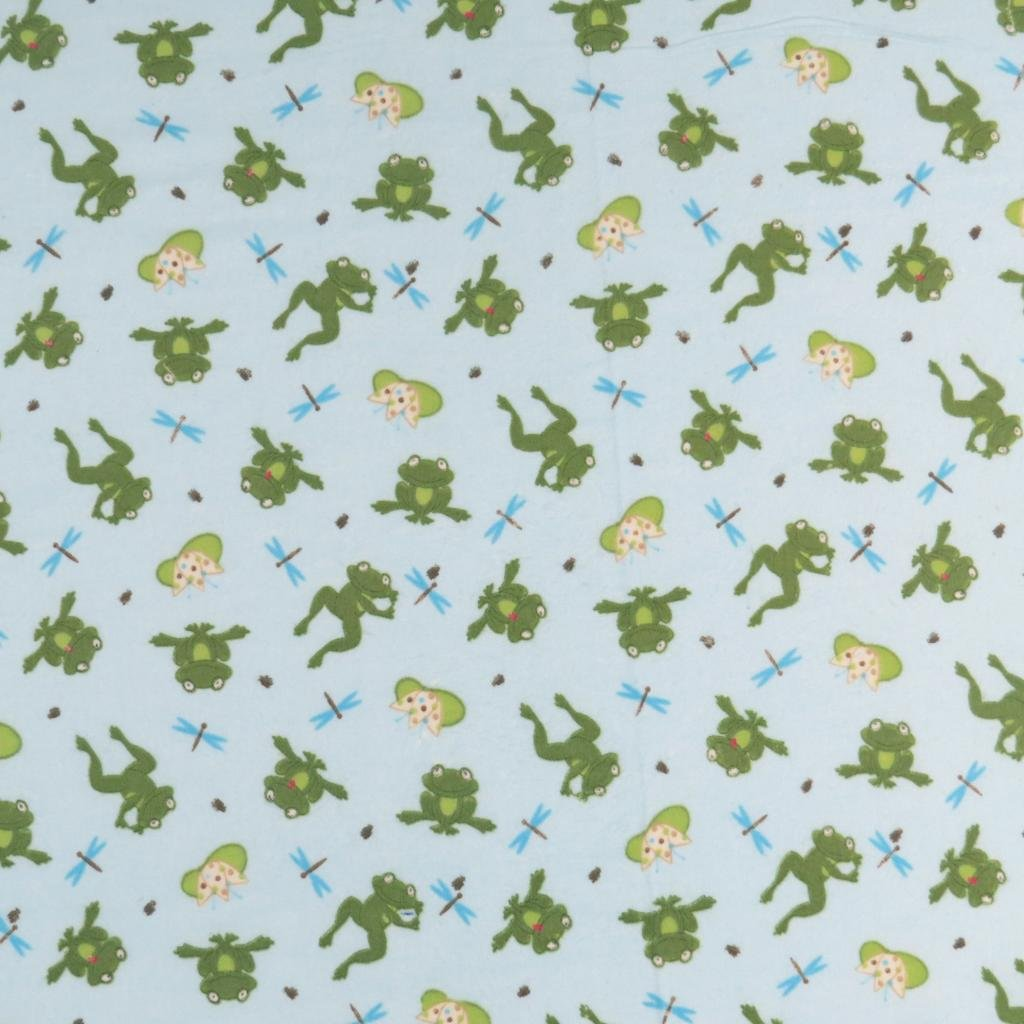 SheetWorld Fitted Cradle Sheet 18 x 36 - Frogs n Pods - Made In USA